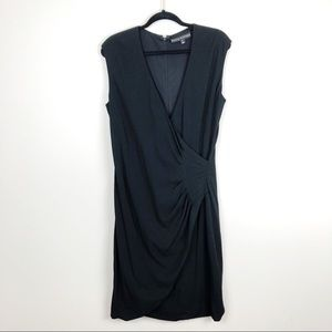 Ralph Lauren BLACK LABEL Black Faux Wrap Dress